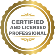 Sherhill Construction's Certified or Licensed Professional Badge